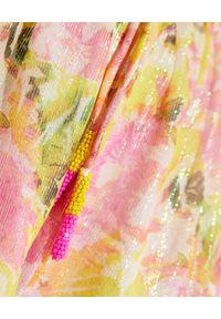 ROCOCO SAND - Szorty w kwiaty Nesh. Stan: podwyższony. Kolor: fioletowy, różowy, wielokolorowy. Materiał: materiał. Wzór: kwiaty