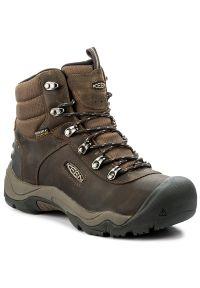 Brązowe buty trekkingowe keen na zimę, trekkingowe