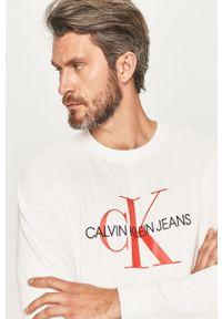 Biała bluza nierozpinana Calvin Klein Jeans casualowa, na co dzień, bez kaptura