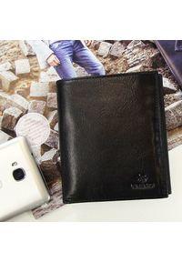 Krenig - Skórzany portfel męski KRENIG Classic 12040 czarny. Kolor: czarny. Materiał: skóra