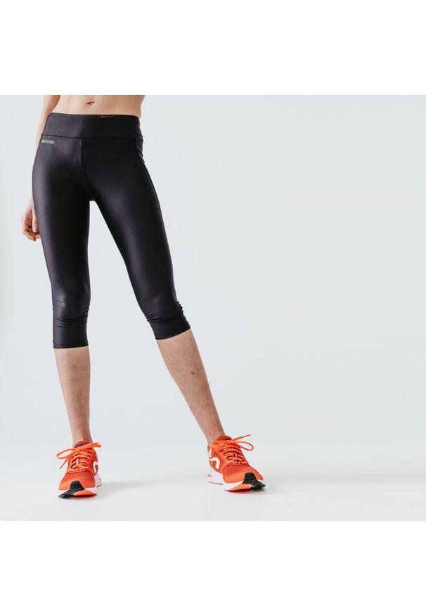 KALENJI - Legginsy do biegania krótkie damskie Kalenji Run Dry. Materiał: poliester, materiał, elastan. Długość: krótkie. Sport: bieganie