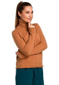 Długi sweter MOE klasyczny, z klasycznym kołnierzykiem