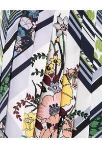 Tory Burch - TORY BURCH - Plisowana spódnica w kwiaty. Okazja: na co dzień. Kolor: niebieski. Materiał: jedwab. Wzór: kwiaty. Sezon: jesień. Styl: casual