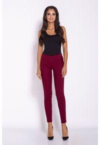 Czerwone spodnie z wysokim stanem Dursi eleganckie