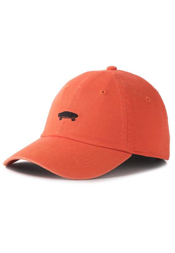 Pomarańczowa czapka z daszkiem Vans