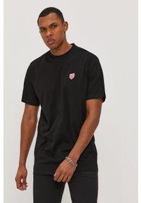 Czarny t-shirt Prosto. casualowy, na co dzień, z nadrukiem