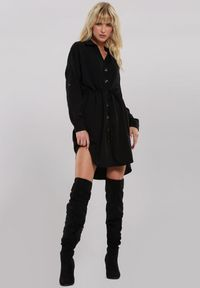 Czarna sukienka koszulowa Renee
