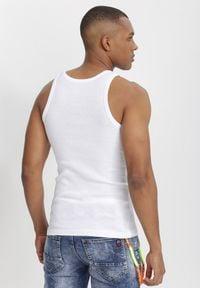 Born2be - Biała Top Crephypso. Kolor: biały. Materiał: bawełna. Długość rękawa: bez rękawów #6