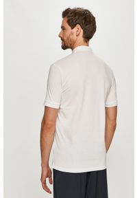 Hugo - Polo. Typ kołnierza: polo. Kolor: biały. Materiał: bawełna, dzianina. Długość: krótkie. Wzór: gładki