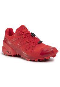 Czerwone buty do biegania salomon Salomon Speedcross, z cholewką