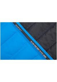 Niebieska kurtka puchowa outhorn casualowa, ze stójką, na co dzień