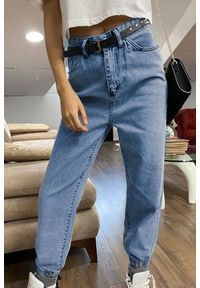 Niebieskie jeansy IVET na co dzień, casualowe, z podwyższonym stanem