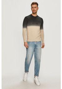 Czarny sweter Calvin Klein długi, casualowy, na co dzień