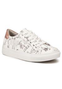 Refresh - Sneakersy REFRESH - 72887 Hielo. Okazja: na co dzień, na spacer. Kolor: biały. Materiał: skóra ekologiczna, materiał. Szerokość cholewki: normalna. Sezon: lato. Styl: casual