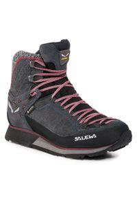 Czarne buty trekkingowe Salewa z cholewką, trekkingowe, Gore-Tex