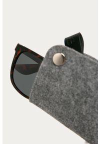 Brązowe okulary przeciwsłoneczne medicine gładkie