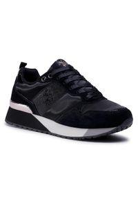 Czarne buty sportowe U.S. Polo Assn z cholewką, na co dzień