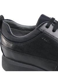 Czarne sneakersy Geox z cholewką
