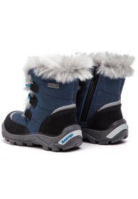 Bartek - Śniegowce BARTEK - 41528/J5A Czarno Niebieski. Kolor: niebieski. Materiał: skóra, zamsz, materiał. Szerokość cholewki: normalna. Sezon: zima, jesień