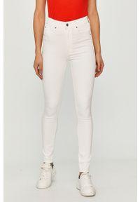 Białe jeansy G-Star RAW gładkie