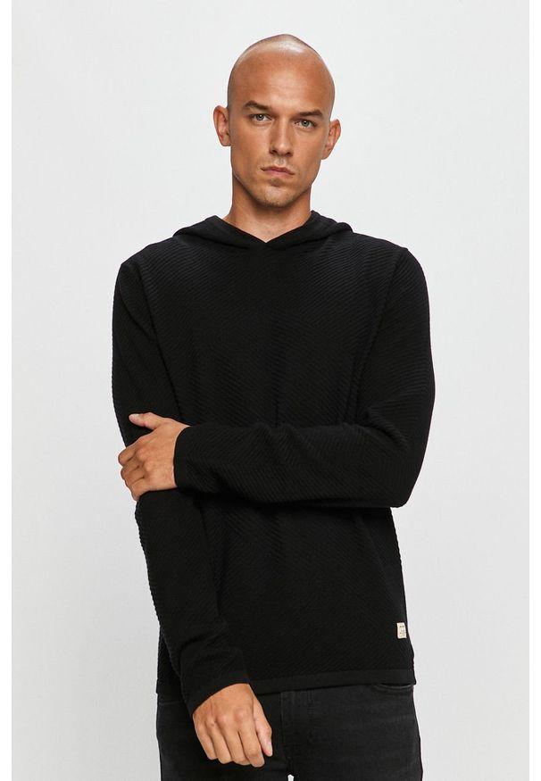 Czarny sweter Jack & Jones z długim rękawem, długi