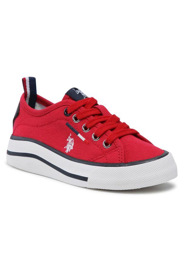 U.S. Polo Assn - Tenisówki U.S. POLO ASSN. - Wave149 WAVE4149S1/CY1 Red. Kolor: czerwony. Materiał: skóra ekologiczna, materiał. Szerokość cholewki: normalna