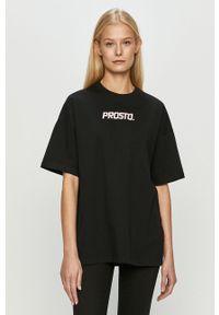 Czarna bluzka Prosto. z aplikacjami, na co dzień, casualowa