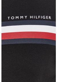 TOMMY HILFIGER - Tommy Hilfiger - Bluza. Okazja: na co dzień. Kolor: czarny. Materiał: dzianina. Wzór: nadruk. Styl: casual