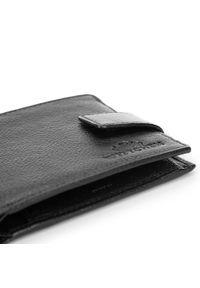 Wittchen - Męski portfel skórzany z zapięciem na napę. Kolor: czarny. Materiał: skóra #2