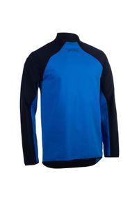 OFFLOAD - Bluza treningowa do rugby R500. Kolor: niebieski. Materiał: softshell, tkanina, materiał. Sport: fitness