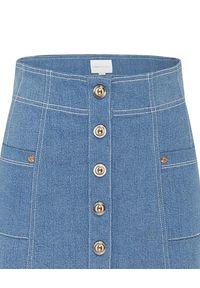 ALICE MCCALL - Niebieska spódnica Woodstock. Okazja: na co dzień. Stan: podwyższony. Kolor: niebieski. Materiał: bawełna. Styl: klasyczny, casual