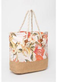 Rip Curl - Torba plażowa. Kolor: różowy. Rodzaj torebki: na ramię