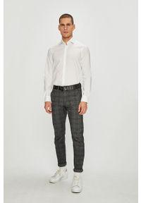 Tommy Hilfiger Tailored - Koszula. Typ kołnierza: kołnierzyk włoski. Kolor: biały. Materiał: tkanina. Wzór: gładki