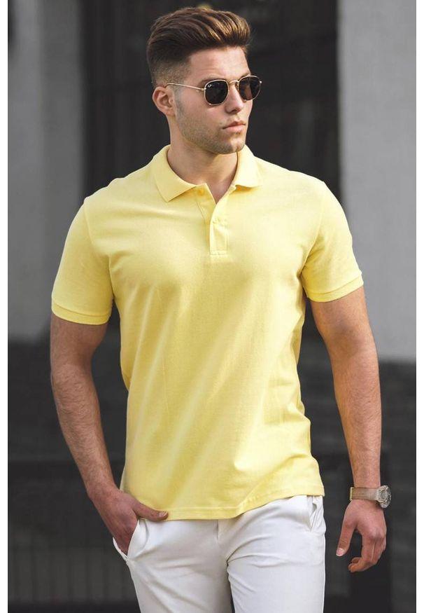 Żółty t-shirt IVET polo, casualowy