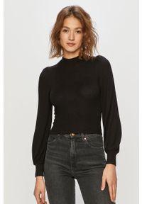 Czarny sweter TALLY WEIJL na co dzień, gładki, casualowy