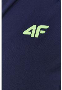 4f - 4F - Bluza. Kolor: niebieski. Materiał: włókno. Długość rękawa: raglanowy rękaw