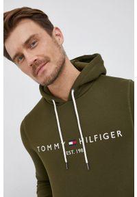 TOMMY HILFIGER - Tommy Hilfiger - Bluza. Okazja: na co dzień. Kolor: zielony. Styl: casual