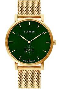 Zielony zegarek LLARSEN casualowy