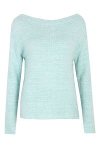Miętowy sweter TOP SECRET na wiosnę, z długim rękawem
