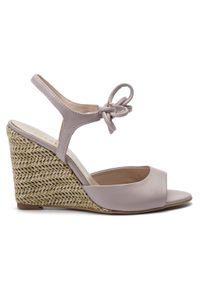 Fioletowe sandały Sergio Bardi casualowe, na co dzień