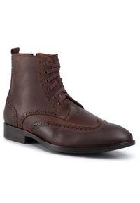Brązowe buty zimowe QUAZI z cholewką, na co dzień, casualowe