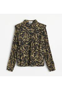 Reserved - Wzorzysta koszula z poduszkami LENZING™ ECOVERO™ - Wielobarwny