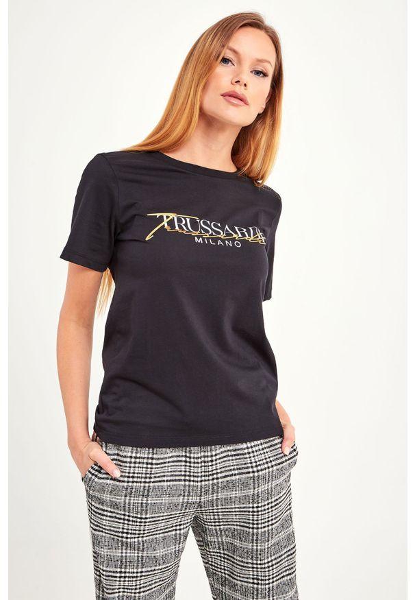 T-shirt Trussardi Jeans w kolorowe wzory, casualowy, na co dzień
