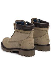 Beżowe buty trekkingowe Wrangler z cholewką