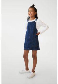 Morska sukienka Mango Kids casualowa, mini #5