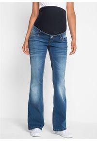 """Dżinsy ciążowe BOOTCUT bonprix niebieski """"stone"""". Kolekcja: moda ciążowa. Kolor: niebieski #6"""
