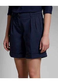 FAY - Granatowe szorty. Kolor: niebieski. Materiał: bawełna