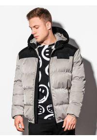 Szara kurtka Ombre Clothing na zimę #8