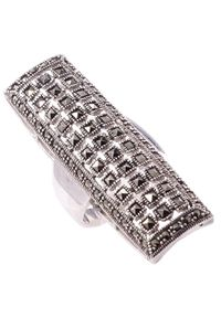 Braccatta - VANG Srebrny Pierścionek z markazytami, duży. Materiał: srebrne. Kolor: srebrny. Wzór: ażurowy. Kamień szlachetny: markazyt