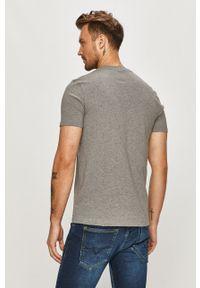 Szary t-shirt GAP casualowy, z nadrukiem